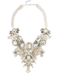 Oscar de la Renta - Braided Bib Necklace - Lyst