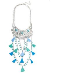 Cara Couture Jewelry - Multi-strand Tassel Statement Necklace - Lyst