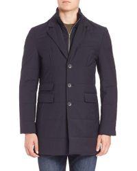 Saks Fifth Avenue | Zipper Bib Quilted Wool Coat | Lyst