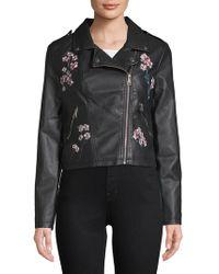 C&C California - Embroidered Moto Jacket - Lyst
