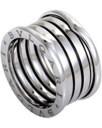 BVLGARI - B.zero1 18k White Gold 3-band Ring - Lyst