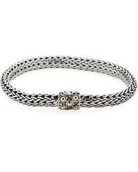 John Hardy - Dot Gold & Silver Woven Chain Bracelet - Lyst