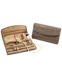 "Bey-berk - ""croco"" Leather Multi Compartment Jewelry Clutch - Lyst"