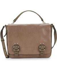 Vince Camuto - Flap Front Leather Satchel - Lyst