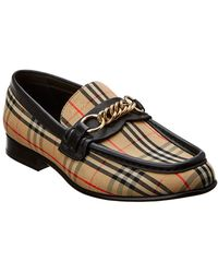 70a6fbfd6ba Lyst - Burberry Splash Print Leather Penny Loafers in Black