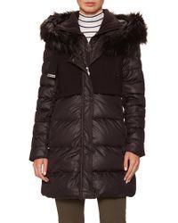 T Tahari Outerwear - Allegra Faux Fur-trimmed Down Puffer Coat - Lyst