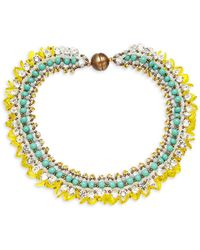 Tataborello - Beaded Collar Necklace - Lyst