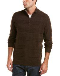 Forte - Cashmere Quarter-zip Sweater - Lyst