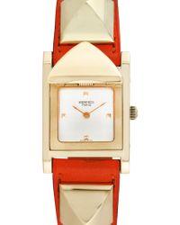 Hermès - Vintage Hermes Medor Studded Watch, 32mm - Lyst