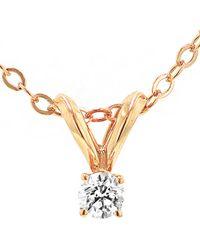 Nephora - 14k Rose Gold 0.10 Ct. Tw. Diamond Necklace - Lyst