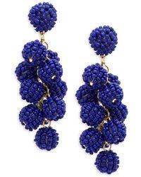 Natasha Couture - Beaded Shaky Drop Earrings - Lyst