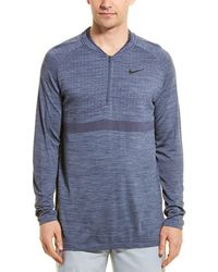 Nike Hs Standard Fit Golf Top - Blue