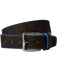 Berge' - Contrast Stitch Leather Belt - Lyst