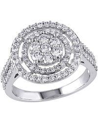 Rina Limor - 10k White Gold & Diamond Ring - Lyst