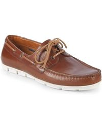 Vince Camuto - Don Leather Boat Shoes - Lyst