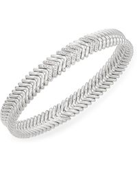 Chimento - Diamond In 18k White Gold Stretch Bracelet - Lyst