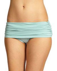 Norma Kamali - Ruched Low-rise Bikini Bottom - Lyst