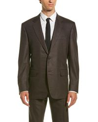 Canali - Wool-blend Suit With Flat Front Pant - Lyst