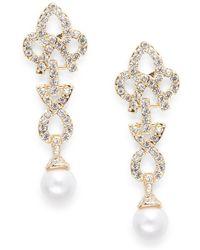Cara - Studded Geo Drop Earrings - Lyst