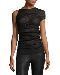 Narciso Rodriguez - Draped Silk Top - Lyst