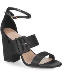 BCBGeneration - Raelynn Satin Ankle-strap Sandals - Lyst