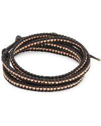 Chan Luu - 18k Gold-plated Sterling Silver & Leather Multi-layer Bracelet - Lyst