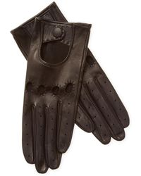 Maison Fabre - Leather Driving Gloves - Lyst