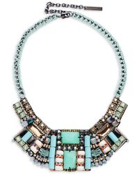 Nocturne - Bella Beaded Statement Necklace - Lyst