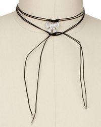 Saachi - Bow Tie Wrap 40in Choker Necklace - Lyst