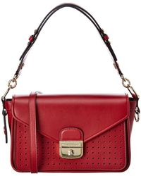 Longchamp Mademoiselle Leather Crossbody - Red
