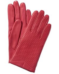 Portolano - Embroidered Wool & Cashmere-lined Leather Gloves - Lyst