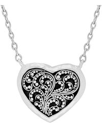 Lois Hill - Silver Heart Necklace - Lyst