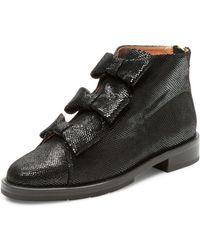 F-Troupe   Leather Moc Toe Bootie   Lyst