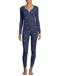 Wildfox - Waffle-print Star Jumpsuit - Lyst