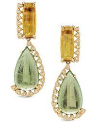 Dana Rebecca - Designs Courtney Lauren 14k 12.86 Ct. Tw. Diamond & Gemstone Drop Earrings - Lyst