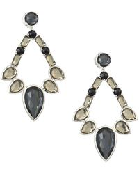 Ippolita - Sterling Silver Rock Candy® Large Multi-stone Open Teardrop Earrings - Lyst