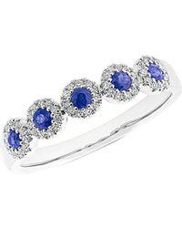 Diana M. Jewels - . Fine Jewelry 14k 0.47 Ct. Tw. Diamond & Blue Sapphire Ring - Lyst