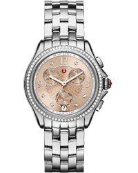 Michele - Belmore Diamond Watch - Lyst