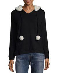 Saks Fifth Avenue - Faux Fur Pullover Hoodie - Lyst