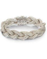 John Hardy - Classic Chain Sterling Silver Medium Braided Bracelet - Lyst