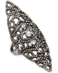 Bavna - Moonstone, Champagne Diamond & Sterling Silver Ring - Lyst