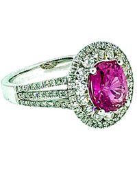Arthur Marder Fine Jewelry - 18k 3.07 Ct. Tw. Diamond & Pink Sapphire Ring - Lyst