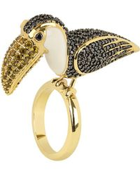 Noir Jewelry - Sao Paulo Rio Parrot Cz Cocktail Ring (size 7) - Lyst