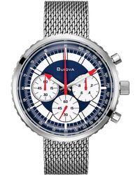 Bulova Men's Stainless Steel Watch - Blue