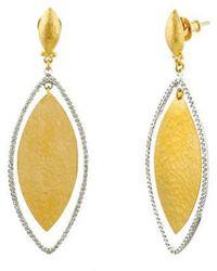 Gurhan Willow 24k & 18k 0.70 Ct. Tw. Diamond Earrings