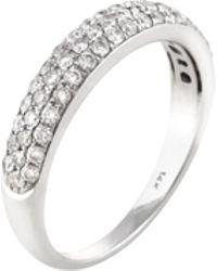 Estate Fine Jewelry - Estate 14k White Gold & 0.60 Total Ct. Diamond Ring - Lyst
