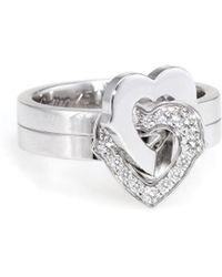 Cartier - Cartier 18k White Gold 0.20 Ct. Tw. Diamond Heart Ring - Lyst