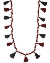 Panacea - Bead Strand Tassel Necklace - Lyst