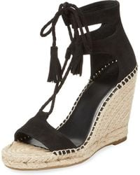 Joie - Delilah Leather Wedge Sandal - Lyst
