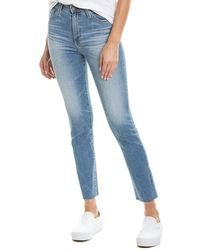 AG Jeans Sophia 16 Years Indigo Deluge High-rise Slim Straight Ankle Cut - Blue